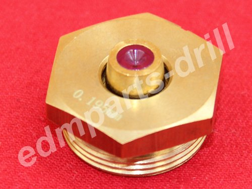 Ruby guide for Middle speed Wire EDM ID=0.195mm